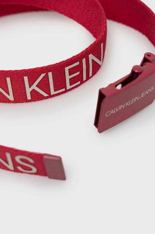 Calvin Klein Jeans - Pasek dziecięcy czerwony