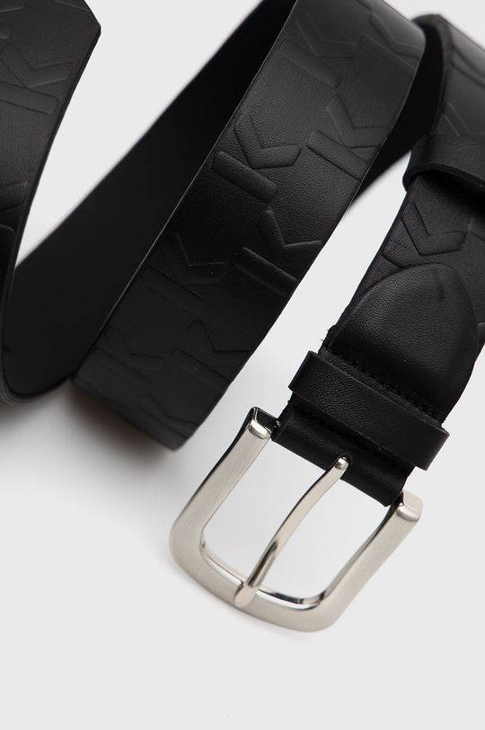 Karl Lagerfeld - Pasek skórzany czarny