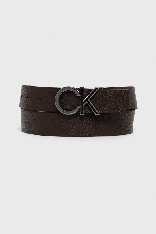 ciemny brązowy Calvin Klein - Pasek skórzany Męski