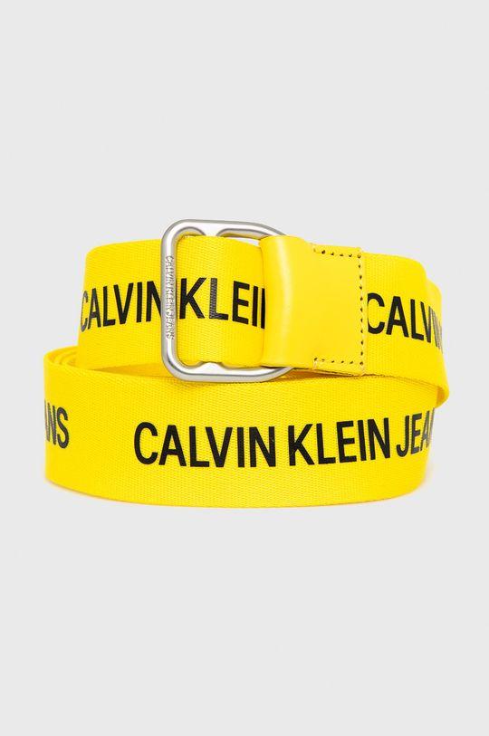 żółty Calvin Klein Jeans - Pasek Męski