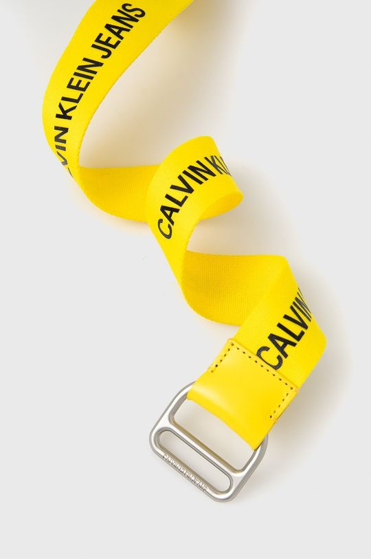 Calvin Klein Jeans - Pasek żółty