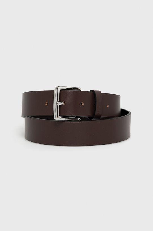 tmavě hnědá Calvin Klein Jeans - Kožený pásek Pánský
