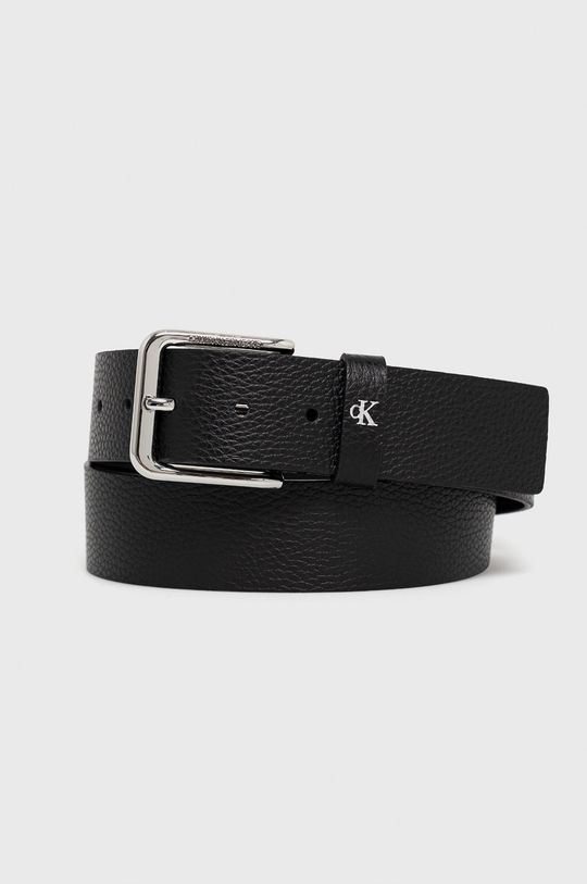 czarny Calvin Klein Jeans - Pasek skórzany Męski