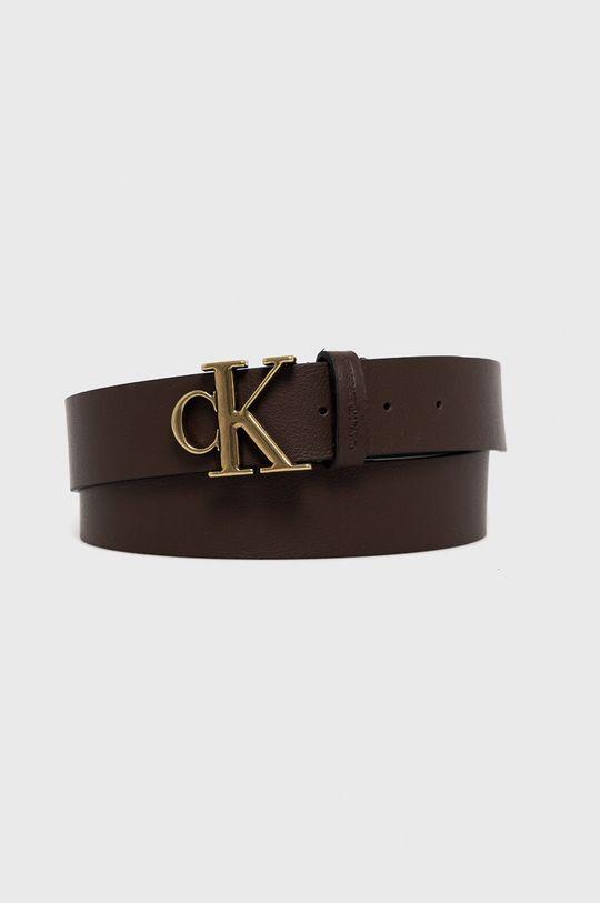 hnědá Calvin Klein Jeans - Kožený pásek Pánský