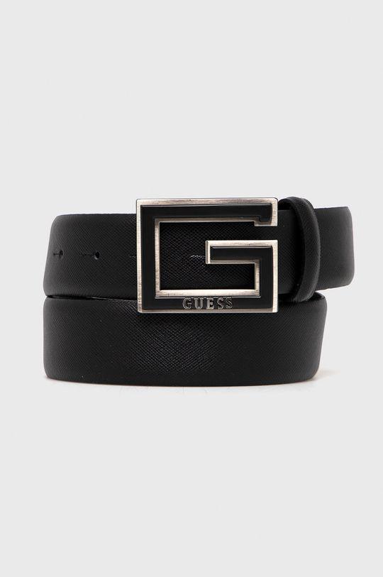 čierna Guess - Kožený opasok Pánsky