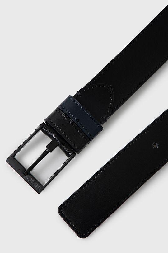 Hugo - Kožený opasok čierna