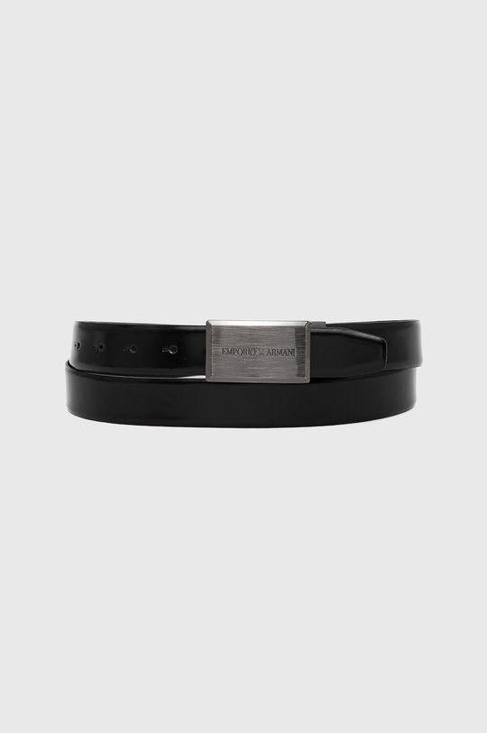 černá Emporio Armani - Kožený pásek Pánský