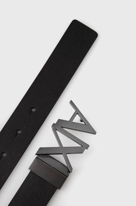 Armani Exchange - Pasek skórzany czarny