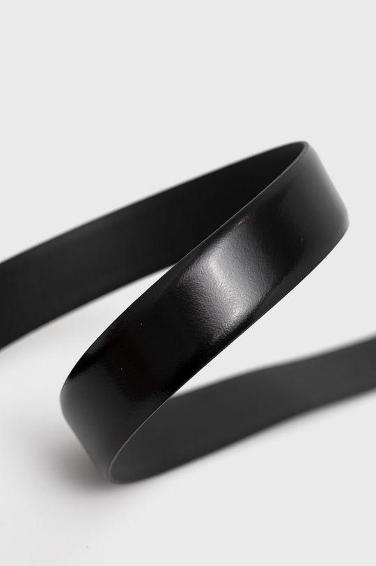 Trussardi - Pasek skórzany czarny