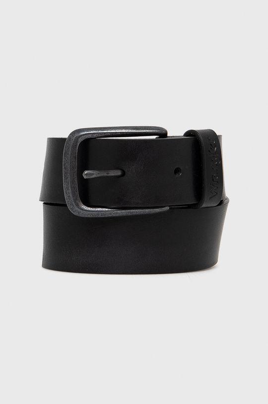 čierna Wrangler - Kožený opasok Pánsky