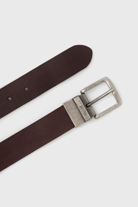 Lee - Pasek skórzany dwustronny brązowy