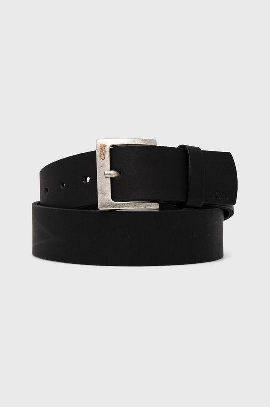 černá Lee Cooper - Kožený pásek Pánský