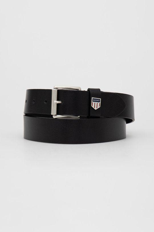 černá Gant - Kožený pásek Pánský