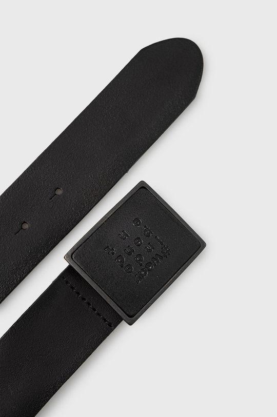 Strellson - Pasek skórzany czarny