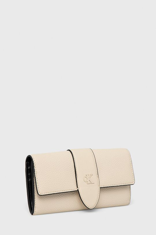 Calvin Klein Jeans - Portfel kremowy