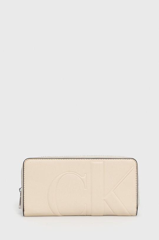 kremowy Calvin Klein Jeans - Portfel Damski