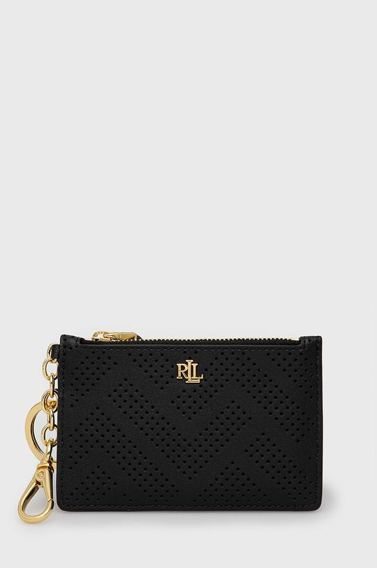 černá Lauren Ralph Lauren - Kožená peněženka Dámský