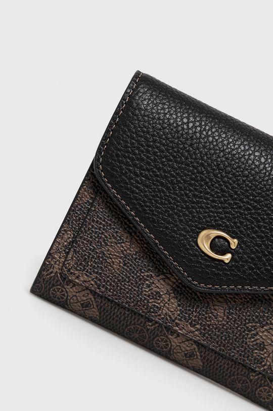 Coach - Kožená peňaženka čierna