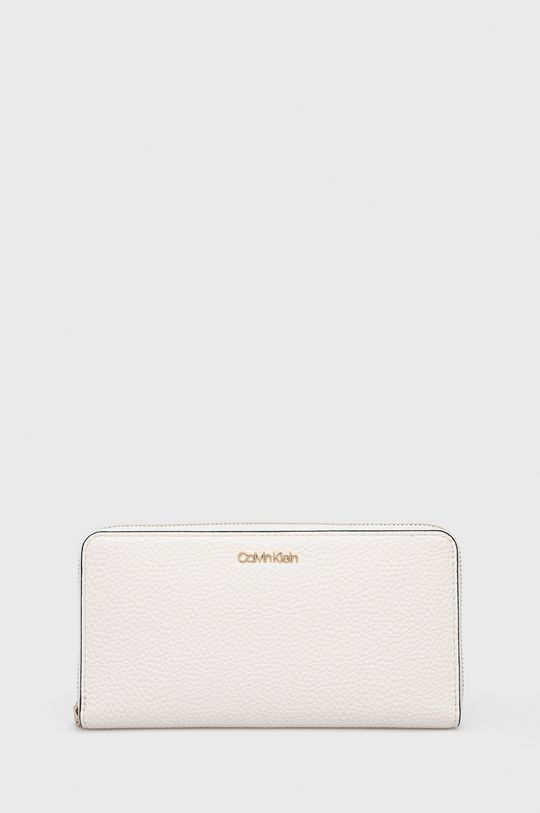 kremowy Calvin Klein - Portfel Damski