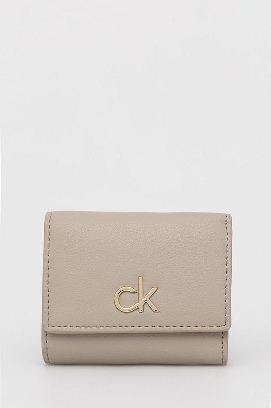 piaskowy Calvin Klein - Portfel Damski