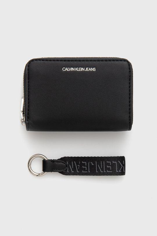 Calvin Klein Jeans - Peněženka + klíčenka černá