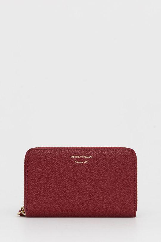 κάστανο Emporio Armani - Δερμάτινο πορτοφόλι Γυναικεία