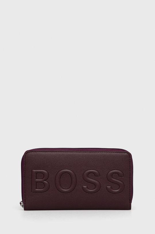 kasztanowy Boss - Portfel Damski