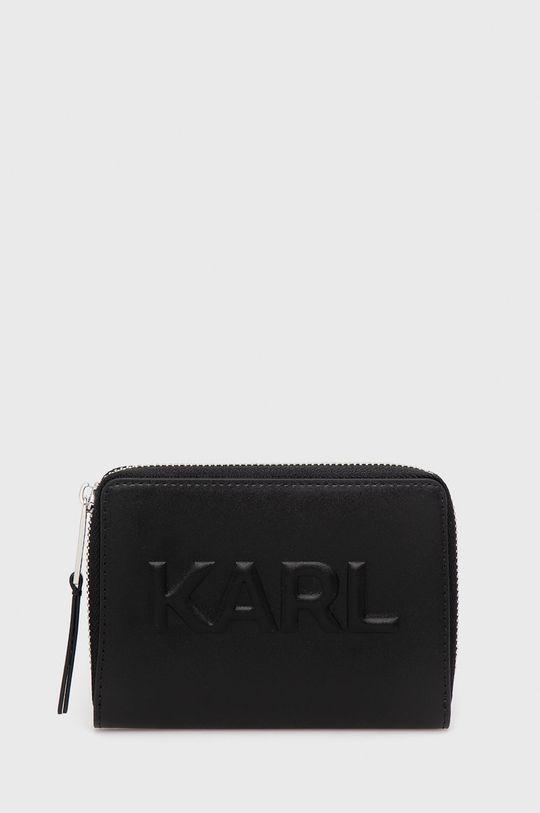 czarny Karl Lagerfeld - Portfel skórzany Damski