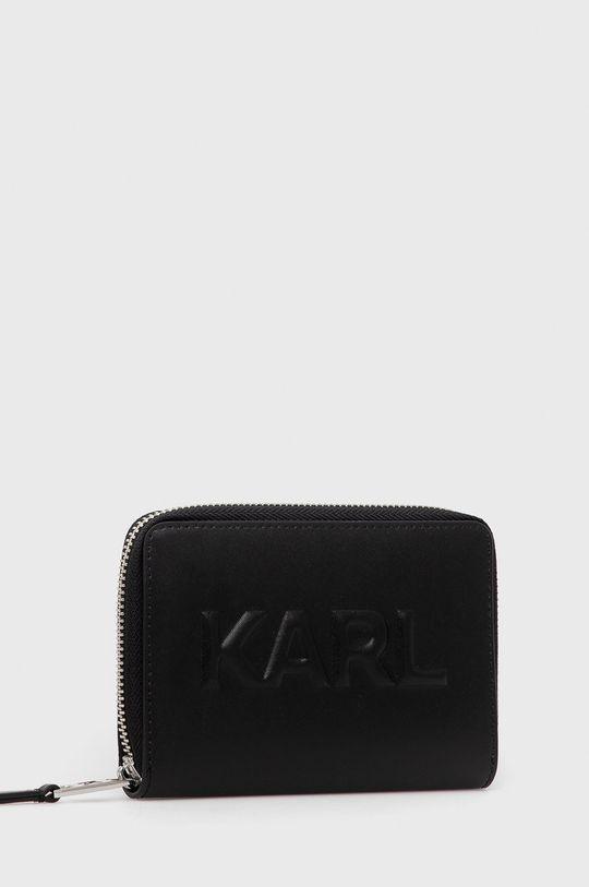 Karl Lagerfeld - Portfel skórzany czarny