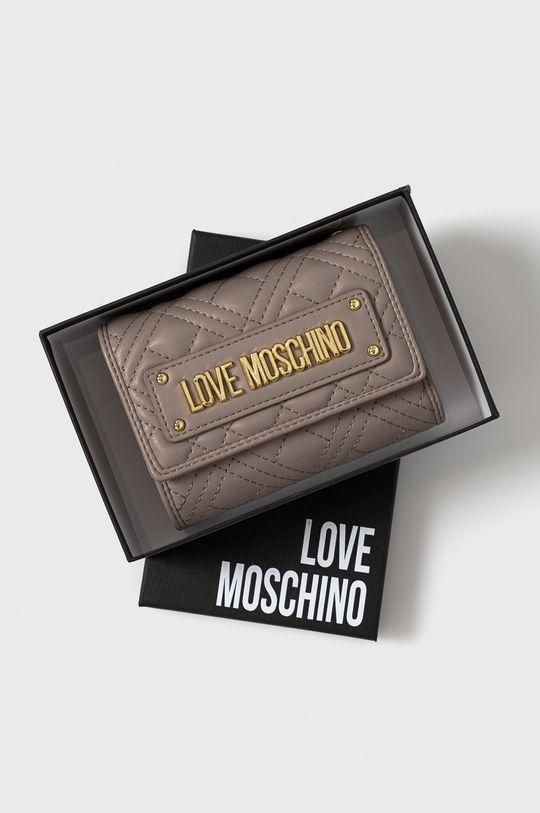 světle šedá Love Moschino - Peněženka