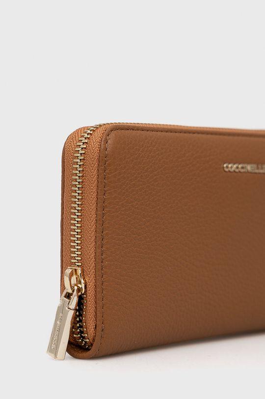 Coccinelle - Portofel de piele maro auriu