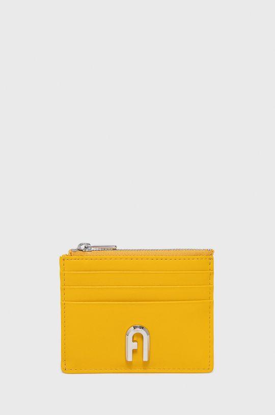 žltá Furla - Kožená peňaženka Moon Dámsky