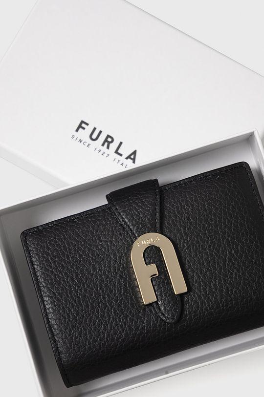 czarny Furla - Portfel skórzany Sofia