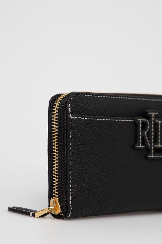 Lauren Ralph Lauren - Δερμάτινο πορτοφόλι μαύρο