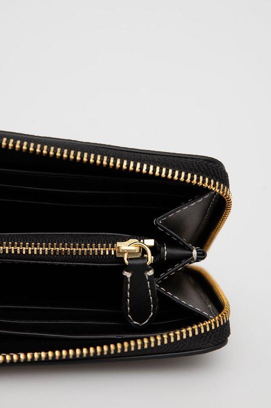 μαύρο Lauren Ralph Lauren - Δερμάτινο πορτοφόλι