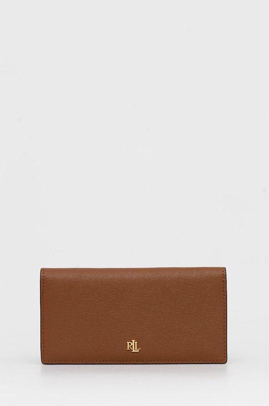 καφέ Lauren Ralph Lauren - Δερμάτινο πορτοφόλι Γυναικεία