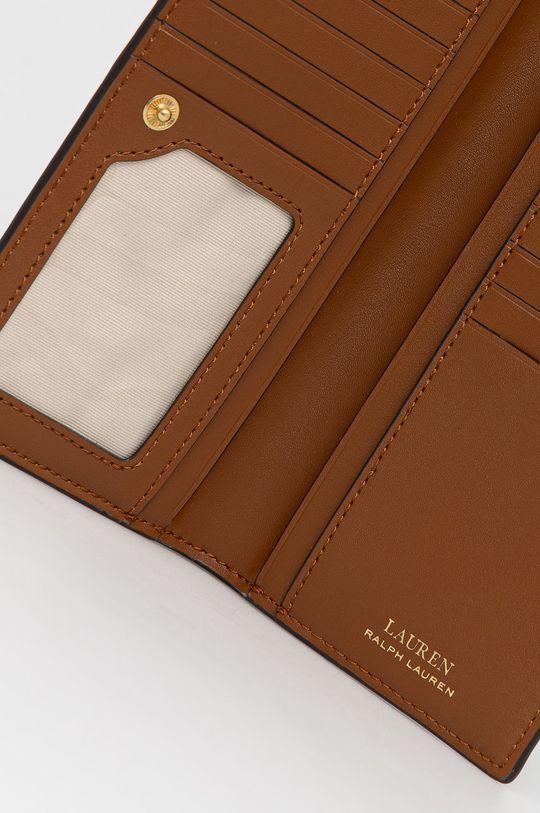 καφέ Lauren Ralph Lauren - Δερμάτινο πορτοφόλι