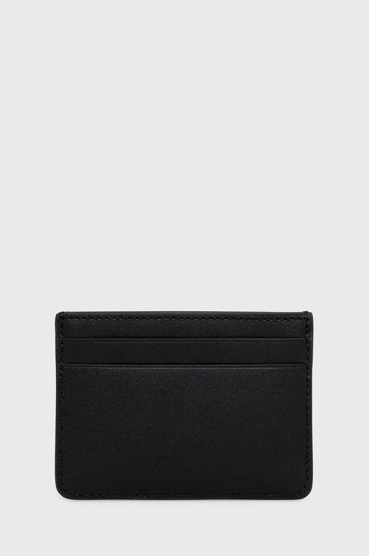 Lauren Ralph Lauren - Etui na karty skórzane czarny