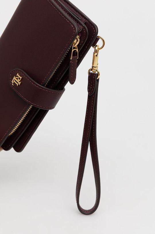Lauren Ralph Lauren - Δερμάτινο πορτοφόλι κάστανο