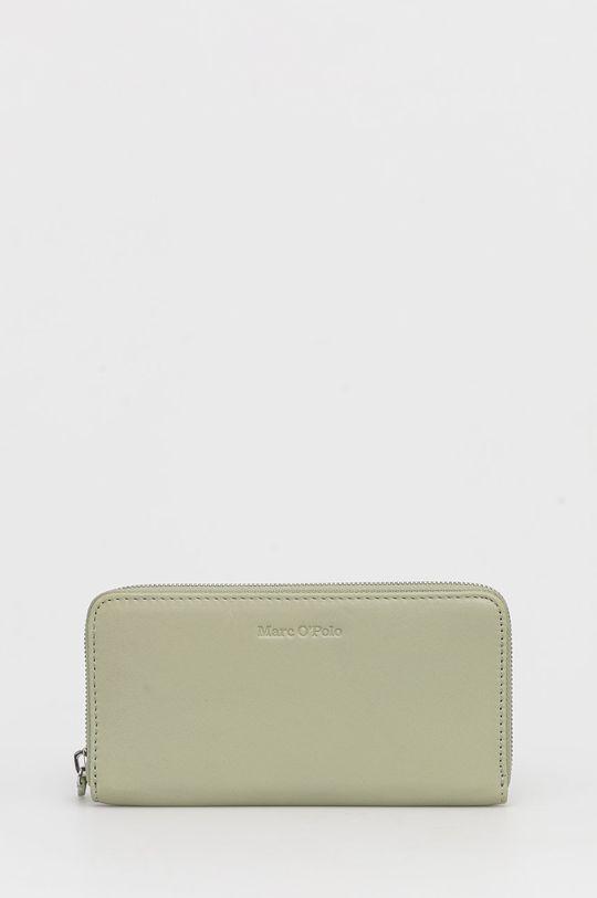 χλωμό πράσινο Marc O'Polo - Δερμάτινο πορτοφόλι Γυναικεία