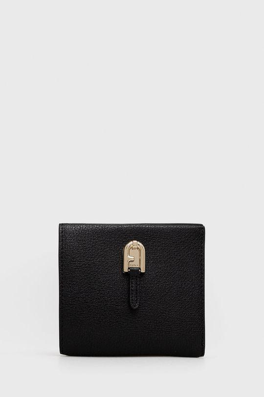 negru Furla - Portofel de piele Palazzo De femei