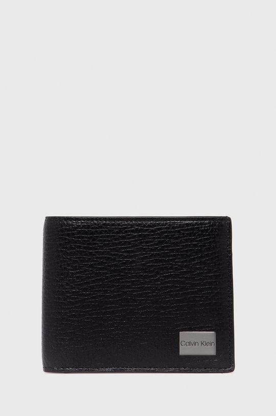 czarny Calvin Klein - Portfel skórzany Męski