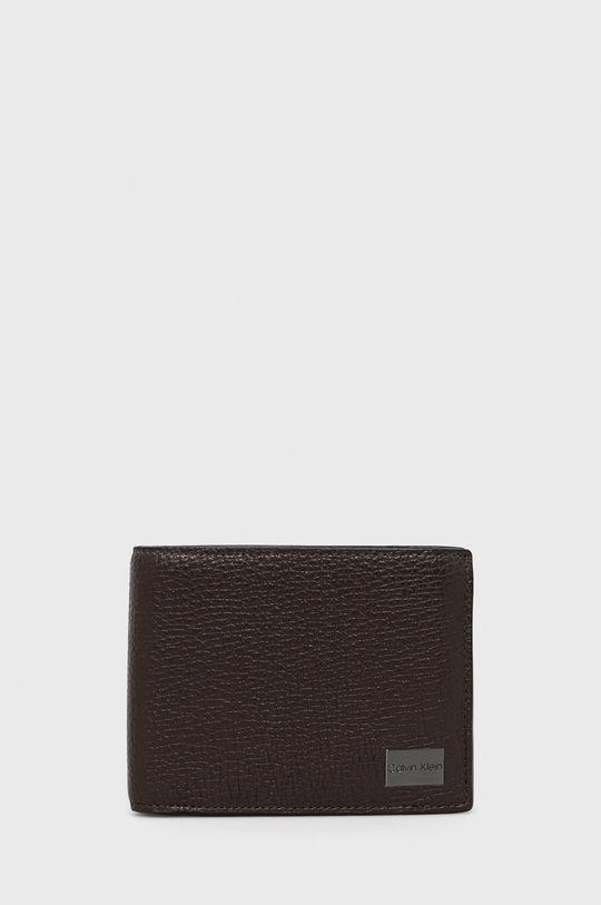 brązowy Calvin Klein - Portfel skórzany Męski