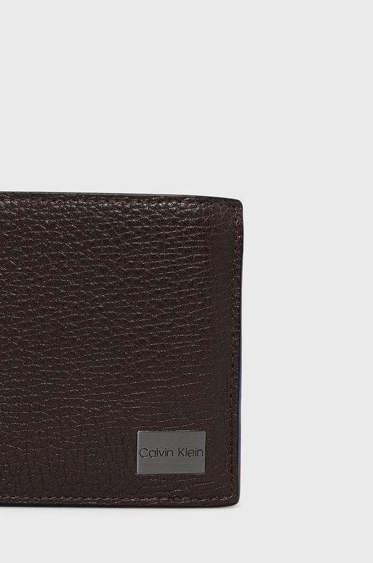 Calvin Klein - Portfel skórzany brązowy