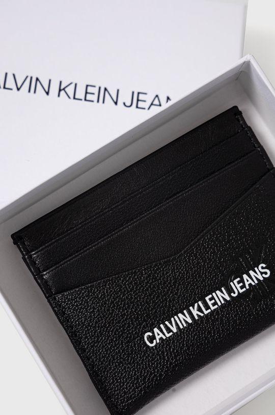 Calvin Klein Jeans - Portfel skórzany Materiał tekstylny, Skóra naturalna