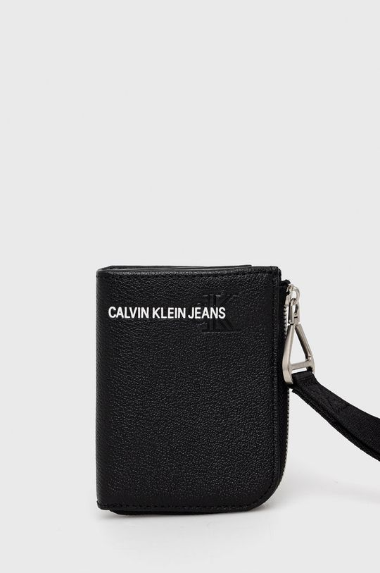czarny Calvin Klein Jeans - Portfel skórzany Męski