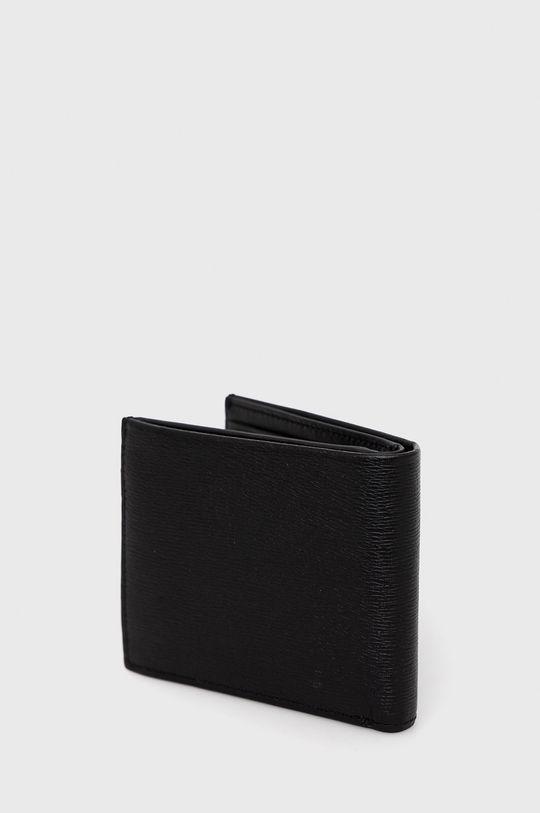 Calvin Klein - Portfel skórzany + brelok czarny