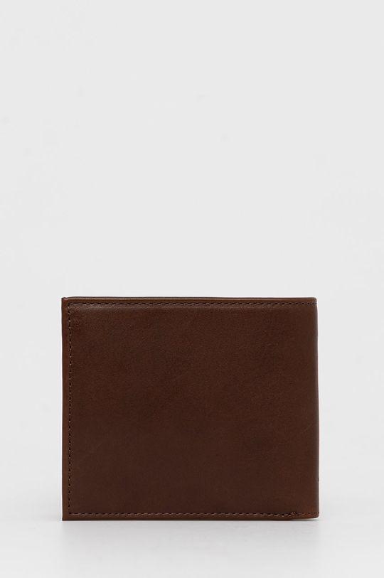 Tommy Hilfiger - Δερμάτινο πορτοφόλι σκούρο καφέ