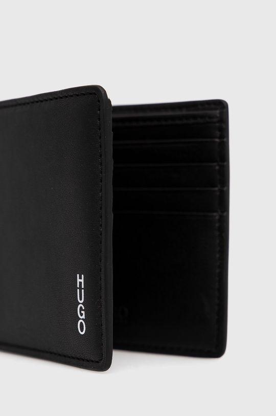 Hugo - Δερμάτινο πορτοφόλι μαύρο