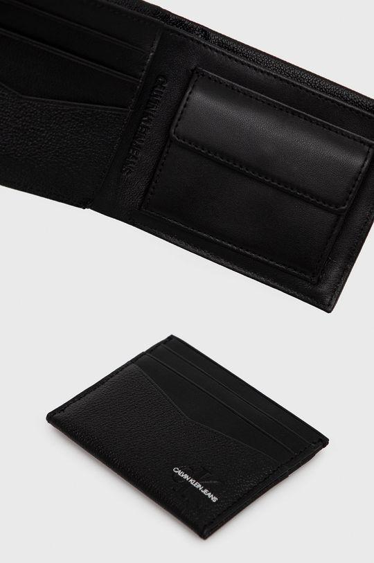 Calvin Klein Jeans - Portfel i etui na karty skórzane 100 % Skóra naturalna